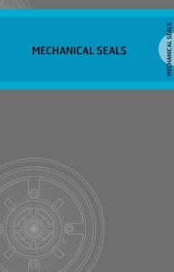 MECHANICAL SEALS MECHANICAL SEALS