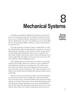 Mechanical Systems. Energy Efficient Lighting
