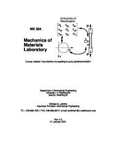 Mechanics of Materials Laboratory