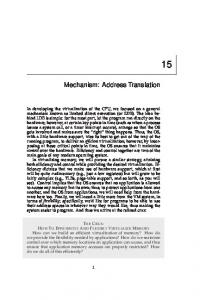 Mechanism: Address Translation