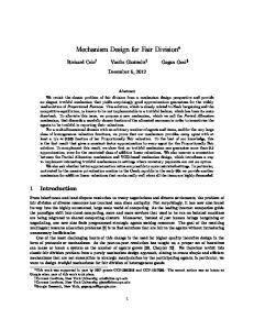 Mechanism Design for Fair Division