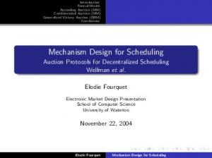 Mechanism Design for Scheduling