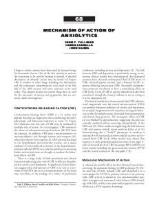 MECHANISM OF ACTION OF ANXIOLYTICS