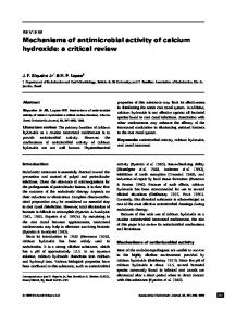 Mechanisms of antimicrobial activity of calcium hydroxide: a critical review