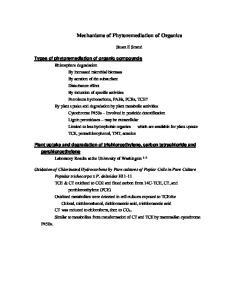 Mechanisms of Phytoremediation of Organics