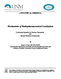 Mechanisms of Radiopharmaceutical Localization