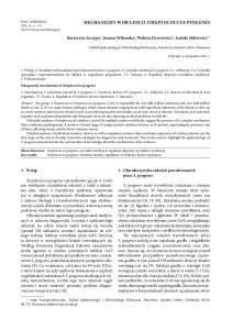 MECHANIZMY WIRULENCJI STREPTOCOCCUS PYOGENES