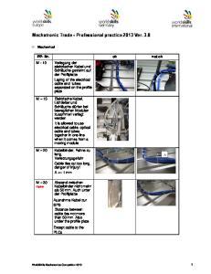 Mechatronic Trade - Professional practice 2013 Ver. 3.8