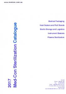 Med-Con Sterilization Catalogue