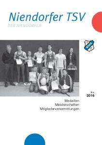 Medaillen Meisterschaften Mitgliederversammlungen