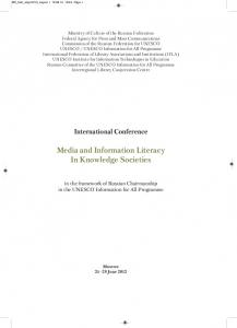 Media and Information Literacy In Knowledge Societies