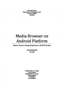 Media Browser on Android Platform