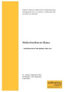 Media freedom in Ghana