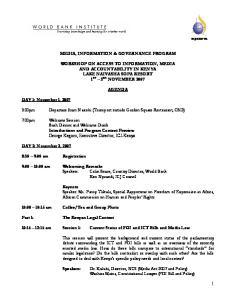 MEDIA, INFORMATION & GOVERNANCE PROGRAM