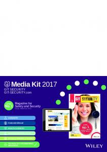 Media Kit 2017 GIT SECURITY GIT-SECURITY.com