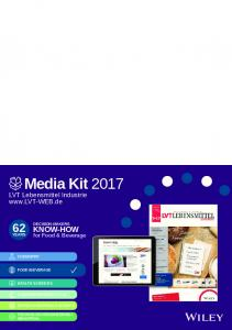 Media Kit 2017 LVT Lebensmittel Industrie