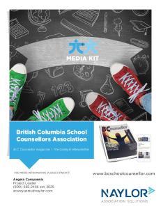 MEDIA KIT. British Columbia School Counsellors Association