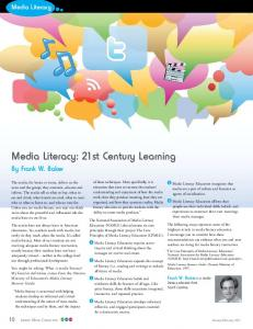Media Literacy: 21st Century Learning
