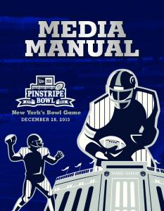 MEDIA MANUAL. New York s Bowl Game