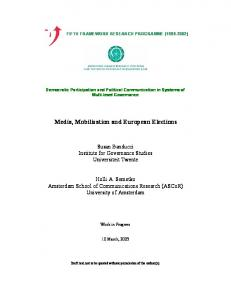 Media, Mobilization and European Elections
