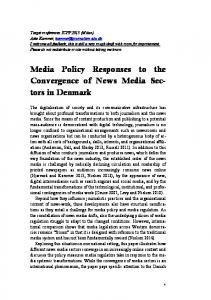 Media Policy Responses to the Convergence of News Media Sectors