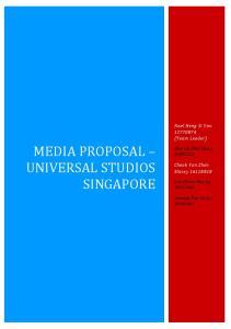 MEDIA PROPOSAL UNIVERSAL STUDIOS SINGAPORE