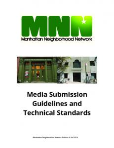 Media Submission Guidelines and Technical Standards