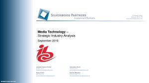 Media Technology Strategic Industry Analysis
