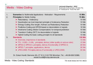 Media - Video Coding: Standards