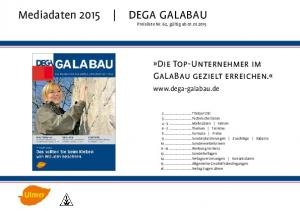 Mediadaten 2015 DEGA GALABAU