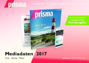 Mediadaten 2017 Print Online Mobil