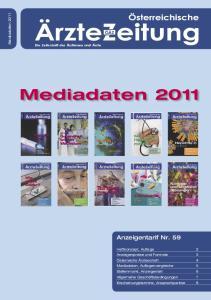 Mediadaten Anzeigentarif Nr. 59. Mediadaten 2011