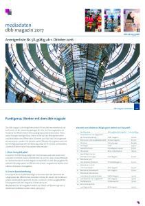 mediadaten dbb magazin 2017