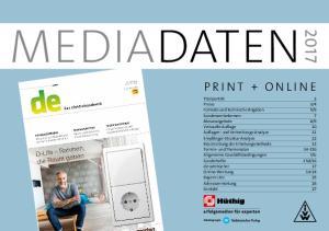 Mediadaten. Print + Online