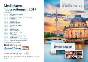 Mediadaten Tageszeitungen 2017