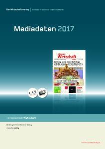 Mediadaten Verlagsbereich Wirtschaft.   Die Zeitung der Wirtschaftskammer Salzburg