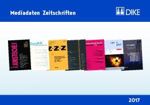 Mediadaten Zeitschriften