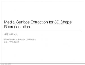 Medial Surface Extraction for 3D Shape Representation