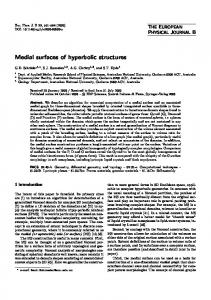 Medial surfaces of hyperbolic structures
