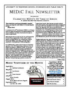 MEDIC FALL NEWSLETTER