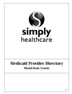 Medicaid Provider Directory Miami-Dade County