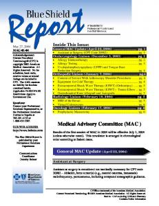 Medical Advisory Committee (MAC )
