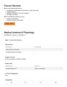 Medical Anatomy & Physiology