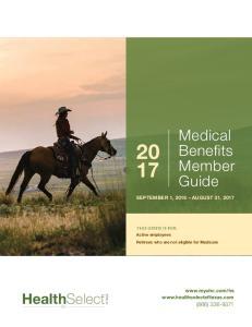 Medical Benefits Member Guide