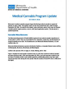 Medical Cannabis Program Update