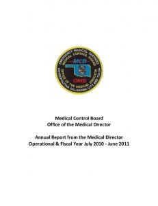 Medical Control Board Office of the Medical Director