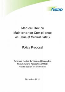Medical Device Maintenance Compliance