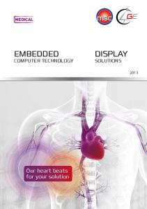 MEDICAL. embedded. Our heart beats for your solution