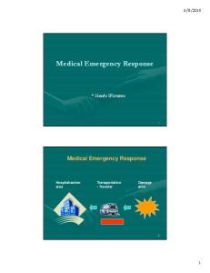 Medical Emergency Response