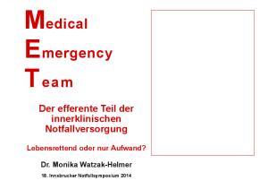 Medical Emergency T eam